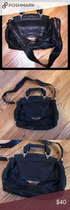 Kooba black leather bag Kooba large soft black leather bag with gold hardware Kooba Bags