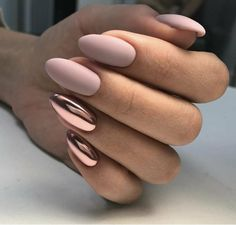 Chic Nails, Stylish Nails, Trendy Nails, Girls Nails, Pink Nails, Nagellack Design, Classic Nails, Oval Nails, Manicure E Pedicure