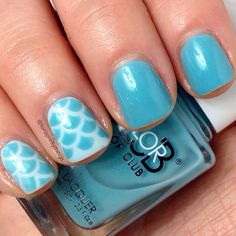 Spring 2015 Erin condren inspired scales nails using china glaze dashboard dreamer and color club sea-ing blue