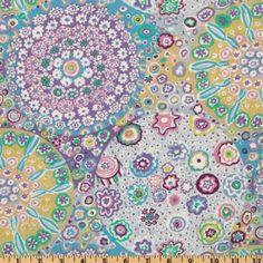 Amazon.com: 44 Wide Kaffe Fassett Millefiore Lilac Fabric By The Yard: kaffe_fassett: Arts, Crafts & Sewing