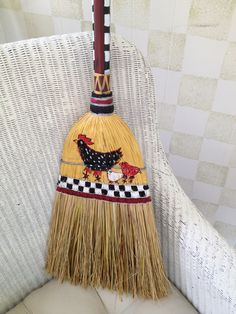 Painted broom!