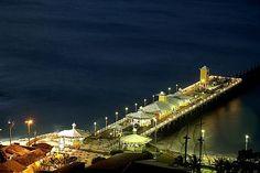 Ponte dos Ingleses, na praia de Iracema, Fortaleza, Ceará