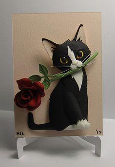 papermatthew.com - Valentine's Day Kittens, beautiful custom kitties made of paper!