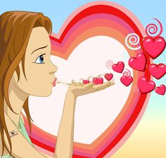 Love You Images, Animated Love Images, Cartoon Girl Images, Cartoon Pics, Cute Good Morning Gif, Motion Wallpapers, Gif Mania, Good Night Love Quotes, Kiss Emoji