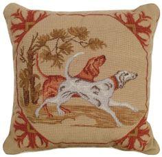 Needlepoint Lancaster Dogs Pillow