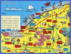 Cool Cleveland Map Tourist Attractions