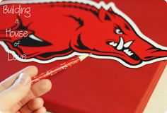 DIY Razorback sign