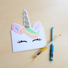 Gorgeous, glittery unicorn birthday card. What girl wouldn't want to get this in the post?