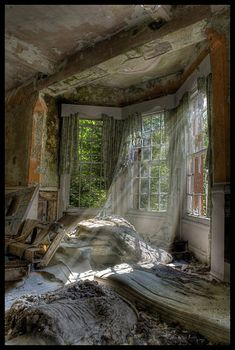 Abandoned Hellingly Hospital was a large psychiatric hospital in the village of Hellingly, in the English county of East Sussex.  The County Council purchased 400-acre Park Farm estate and GT Hine, consulting architect  built the hospital to a compact arrow plan.