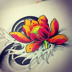 tattoo art Japanese Lotus by willemxsm
