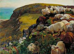 Our English Coasts - William Holman Hunt  THIS is the print I want over my mantle. Love.