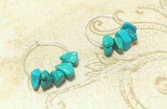 The Jaclyn Turquoise Natural Stone Chip Boho por NiteDreamerDesigns