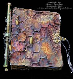 Metal Mania Plaster & Chickenwire Art Journal - I LOVE this idea!