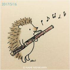 ^ Someone said this is a bassoon. Play that bassoon Hedgie, play it just as good as you want to. Hedgehog Art, Hedgehog Drawing, Cute Hedgehog, Albino Hedgehog, Music Drawings, Easy Drawings, Basson, Hedgehog Illustration, Band Nerd