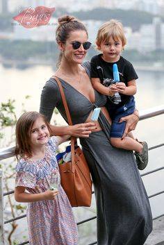 Alessandra Ambrosio spends a fun filled day with her kids Anja and Noah in Rio de Janeiro, BR - July 7, 2015
