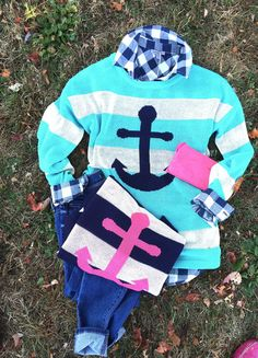 Striped Anchor sweater