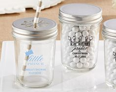 Deck out your summer BBQ party with these picnic party-inspired Personalized Glass Mason Jars. For the finishing touch, you can customize these barbeque-party mason jars with your event details for a favor guests will cherish. Mason Jar Favors, Mason Jar Crafts, Mason Jar Diy, Personalized Mason Jars, Bbq Set, Ppr, Birthday Favors, Party Favors, Wedding Favors