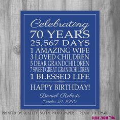 70th birthday ideas for mom - Google Search
