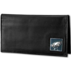 NFL Philadelphia Eagles Deluxe Leather Checkbook Cover  https://allstarsportsfan.com/product/nfl-philadelphia-eagles-deluxe-leather-checkbook-cover/  Genuine fine grain leather Officially licensed NFL product Windowed ID slot