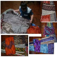 3 Layers Long Wrap Skirt India Sari Hippie Gypsy Boho Dance or