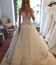 We love our Wednesday selfies! The newest addition to our La Haute Bijoux collection, the Courtney Gown @pallascouture #pallascouture #wednesday #selfie #pallas #lace #couture #collection #newestaddition #hautecouture #weddinggown #weddingdress #bride #bridal #bridalgown #wedding #fashion #love #weddinginspiration #bridalinspiration