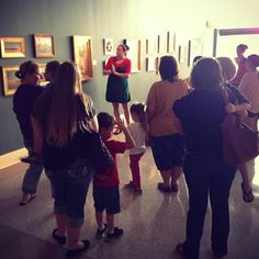 Our monthly Tot Spot class is underway. After a tour in the galleries, these tots will be making their very own Mediterranean art!