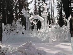 One in a lifetime travel: Ice Carving Festival in Fairbanks, AK