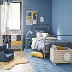 New Baby Bedroom Small Toddler Bed Ideas Small Toddler Bed, Rustic Toddler Beds, Baby Bedroom, Kids Bedroom, Bedroom Small, Home Interior, Interior Design, French Country Bedrooms, Metal Beds