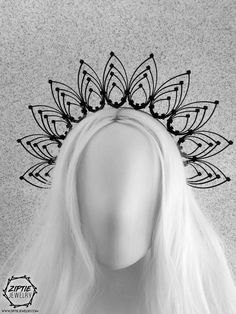diy ties for men Halo Headband, Flower Crown Headband, Bridal Headdress, Floral Headpiece, Fascinator, Gothic Crown, Feather Crown, Look Dark, Tie Crafts
