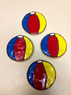 Beach Ball Cookies