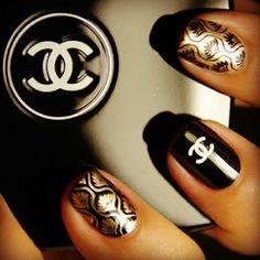 #Chanel #Nail #manicure #mani #polish