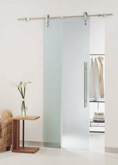 Suspended sliding door Easy by Tre Piu, with a steel rail easy to ...