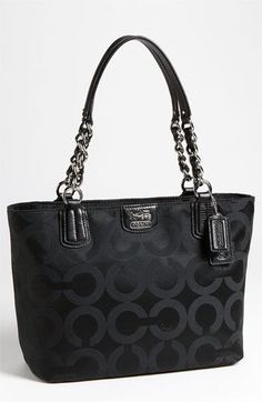 New Addition :)   Classic.  COACH 'Op Art' Sateen Tote