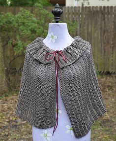 Ravelry: Dropped Stitches and Short Rows Capelet pattern by Linda Blakely