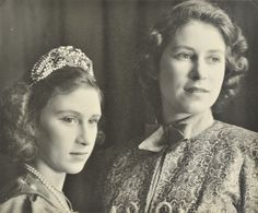 Queen Elizabeth with her younger sister Princess Margaret.
