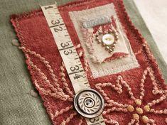 Art Quilt Journal (red velvet) by Rebecca Sower, via Flickr