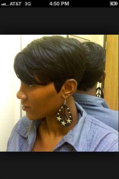 Short cut black hair