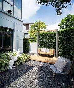 Backyard Patio Designs, Small Backyard Landscaping, Backyard Pergola, Modern Landscaping, Landscaping Ideas, Townhouse Garden, Small Garden Design, Outdoor Living, Outdoor Decor