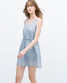 ZARA - NEW THIS WEEK - DRESS WITH PATTERNED HEM