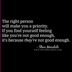 Steve Marabeli ~ it's because they're not good enough.