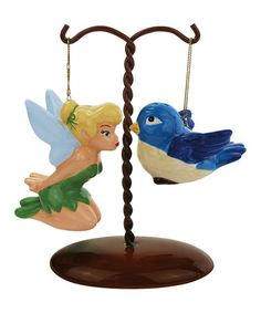 Tinker Bell & Bird Salt & Pepper Shakers.