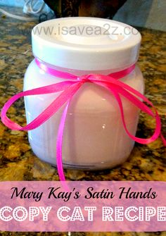 My hands are so soft after using this recipe!  It's easy!  I bet you have the ingredients to make it in your pantry!