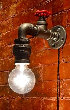 Wall Light – Industrial light – Steampunk Sconce – Steampunk light – Industrial Sconce – Sconce – Lighting – Vanity Light – Bar Light - All About Decoration Sconce Lighting, Vanity Lighting, Bar Lighting, Lighting Design, Lighting Ideas, Garage Lighting, Rustic Lighting, Vintage Lighting, Bathroom Lighting