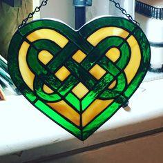 Celtic knot in a heart. Original pattern maker unknown. Rockfish Studios, Wilmington,NC