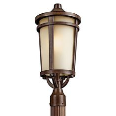 Kichler Lighting Atwood Collection 1-light Brown Stone Flourescent Outdoor Post Head (Aluminum)