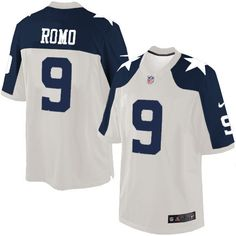 Nike Limited Tony Romo White Men's Jersey - Dallas Cowboys #9 NFL Throwback Alternate