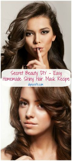 DIY Face Masks  : Secret Beauty DIY  Easy Homemade Shiny Hair Mask Recipe