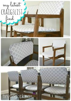 How to Reupholster Dining Chairs | Redoing Furniture | DIY Reupholstery