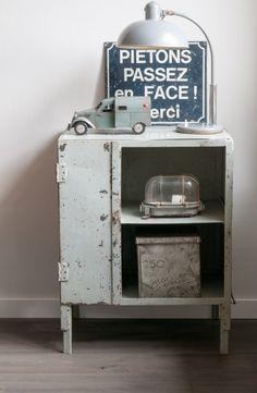 ☆ Brocante, déco vintage industrielle brocante campagne Lampe industrielle