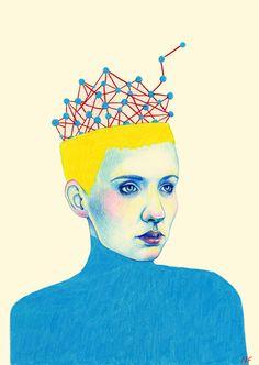 Wolfram magazine - Artificial intelligence by Natalie Foss, via Behance